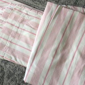 Pottery Barn Kids striped curtains.